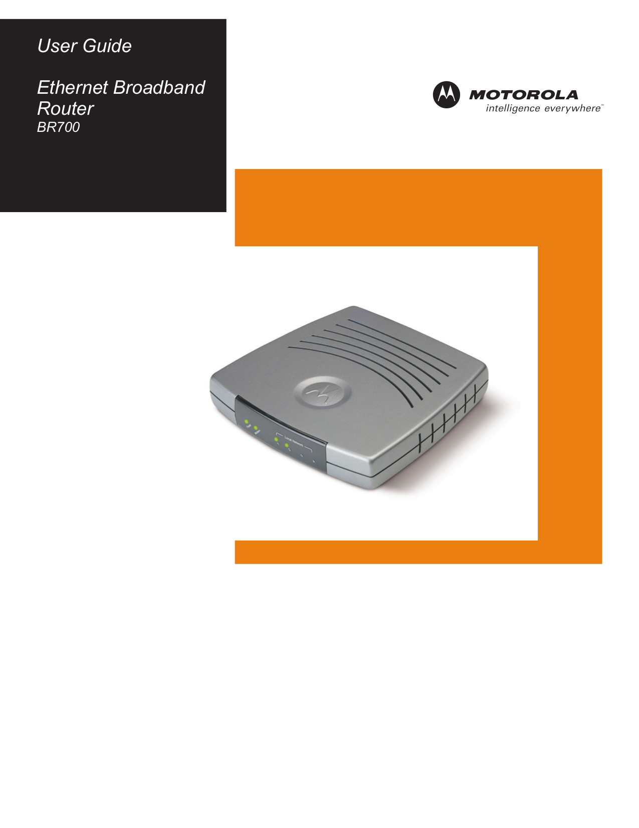 pdf for Motorola Router BR700 manual