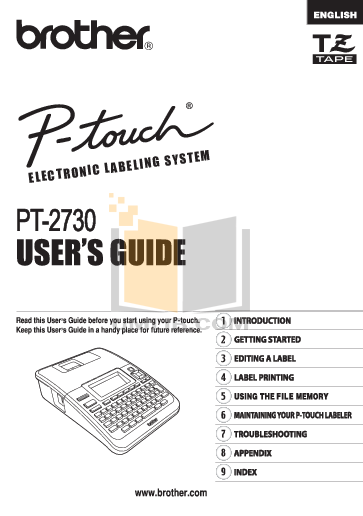 pdf for Brother Printer PT-30 manual