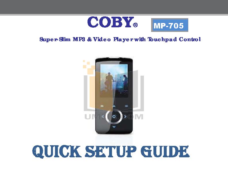 pdf manual for coby mp3 player mp 600 4gb rh umlib com Coby MP3 Player Touch Screen Coby MP3 Player