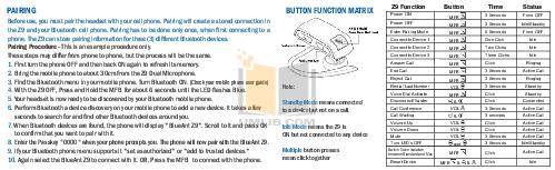 Blueant Headphone X5 pdf page preview