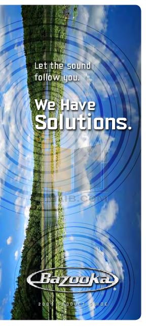 pdf for Bazooka Speaker MBTA8200 manual