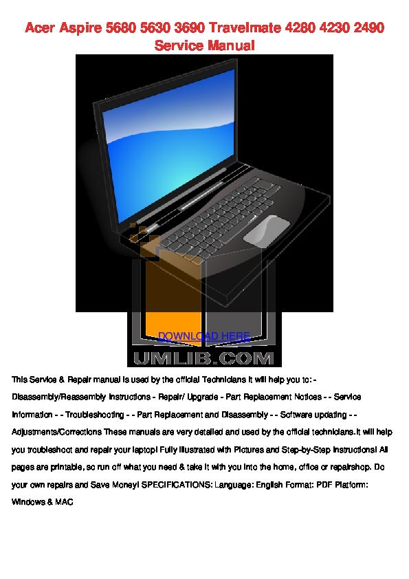 download free pdf for acer extensa 7620 laptop manual rh umlib com Acer Extensa 4630Z Acer Veriton 7600