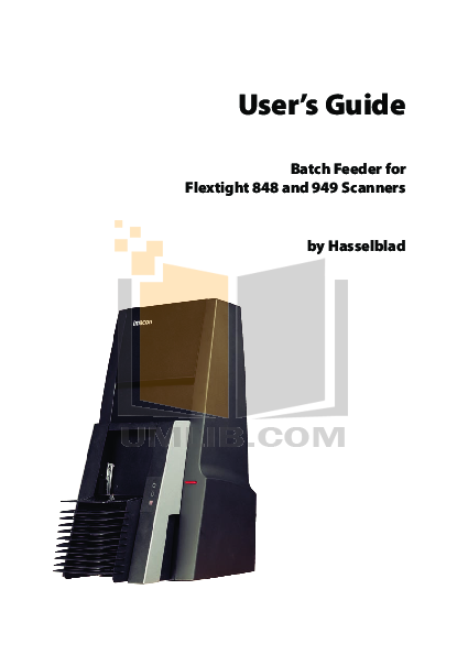 pdf for Hasselblad Scanner Flextight 848 manual