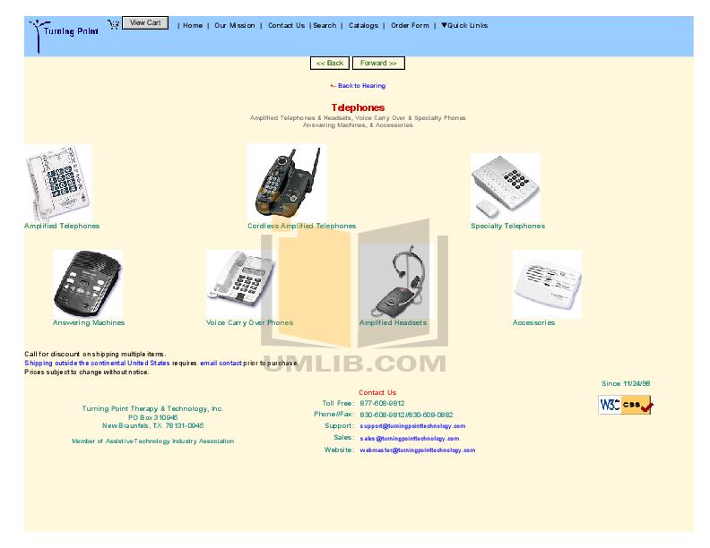 pdf for Ameriphone Telephone P300 manual