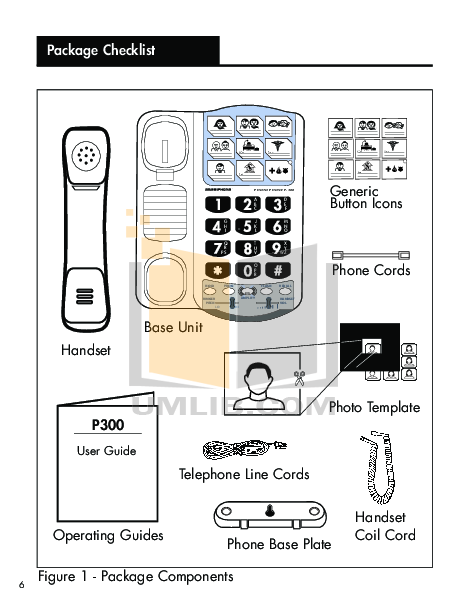 Ameriphone Telephone P300 pdf page preview