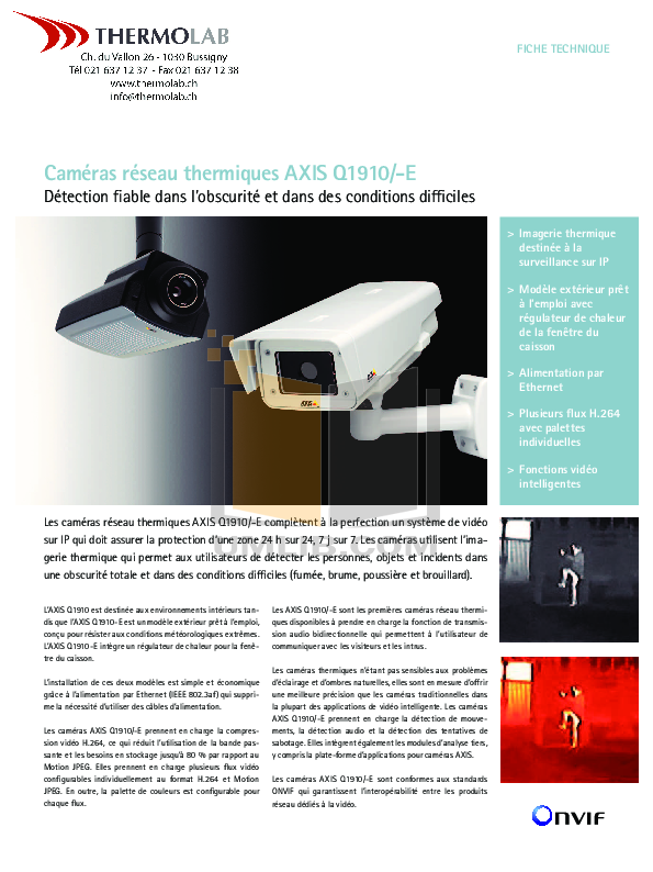 pdf for Axis Security Camera Q1910 manual