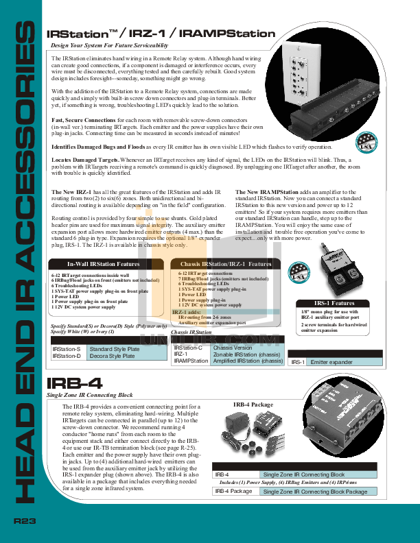 Audioplex Other IRZ-1 Zonable Termination Point pdf page preview