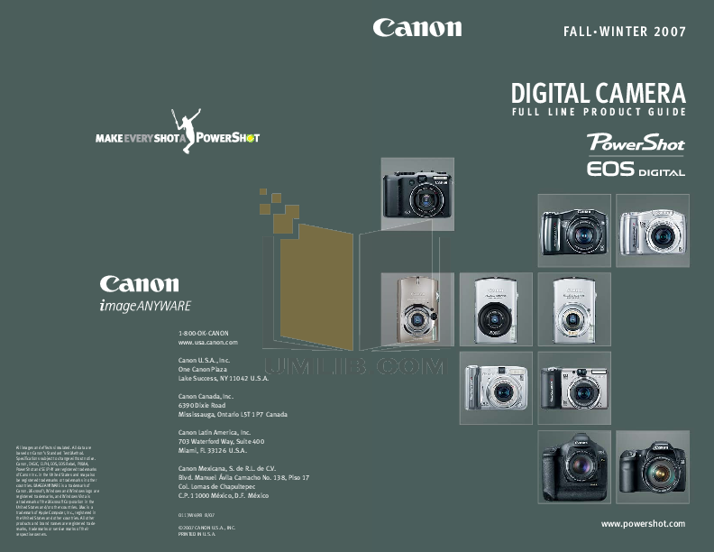pdf for Canon Digital Camera Powershot SD870 IS manual