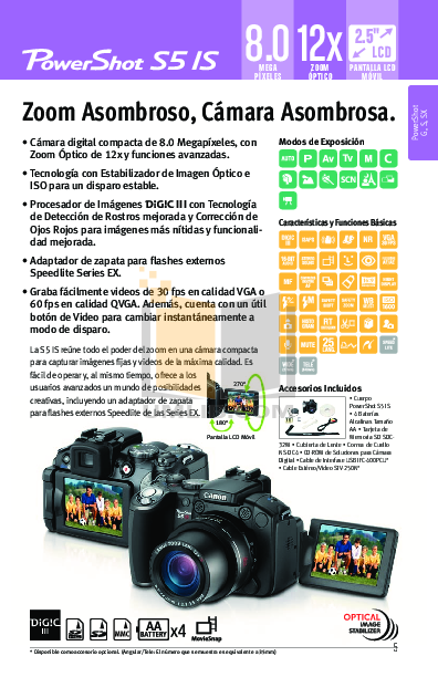 Canon Digital Camera Powershot SD870 IS pdf page preview