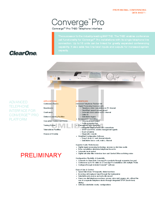 clearone converge pro 880t manual