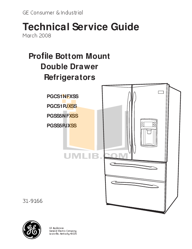 download free pdf for ge profile pgss5pjxss refrigerator manual rh umlib com ge profile refrigerator manual bottom freezer ge profile refrigerator manual ice maker