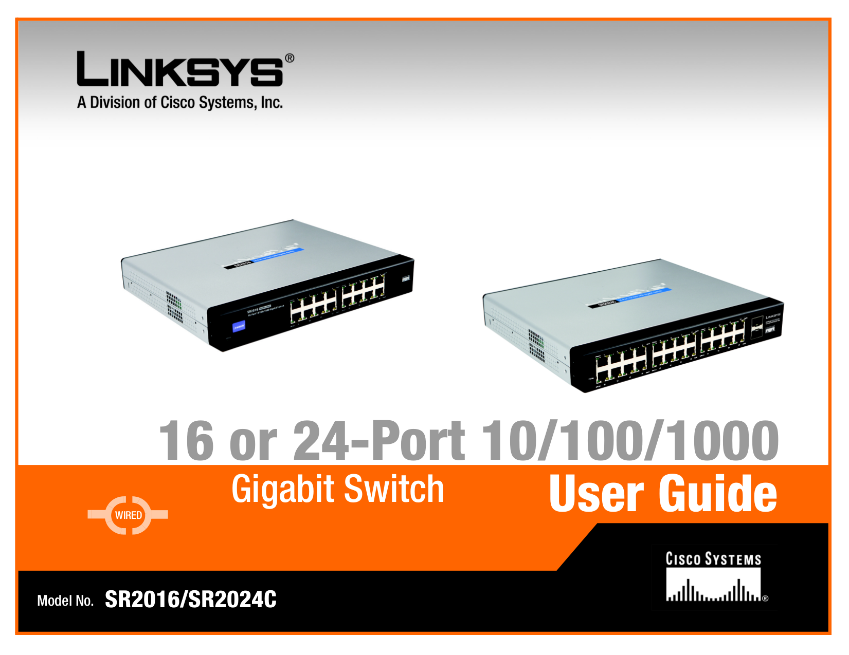 pdf for Linksys Switch SR2024C manual