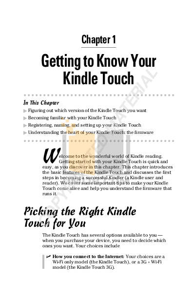 PDF manual for Amazon Tablet Kindle Kindle Touch 3G