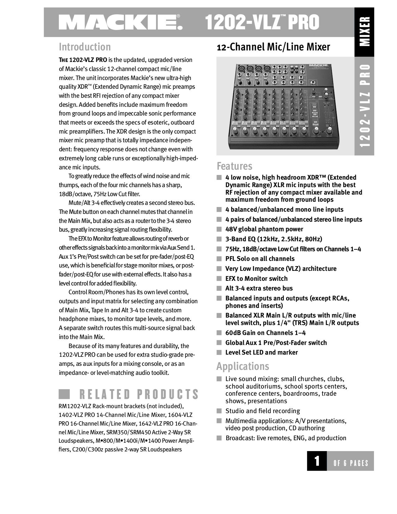 download free pdf for mackie 1604 vlz pro line mixer other manual rh umlib com mackie 1604-vlz pro manual download mackie 1604-vlz pro manual download