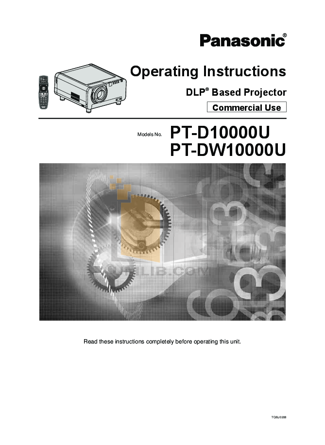 pdf for Benq Projector W10000 manual