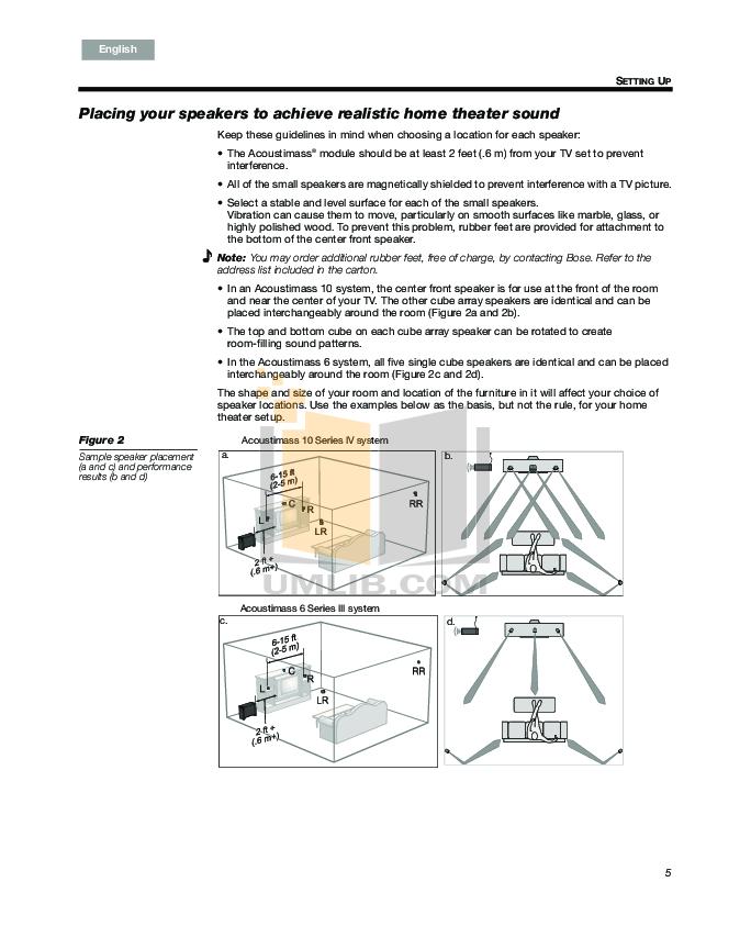 pdf manual for bose speaker system acoustimass 3 series iv. Black Bedroom Furniture Sets. Home Design Ideas
