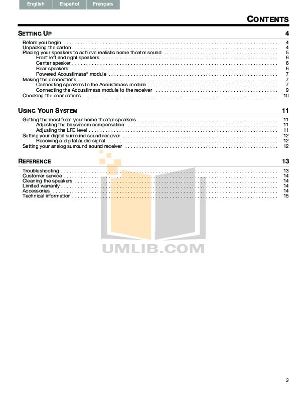 bose acoustimass 3 series iv manual