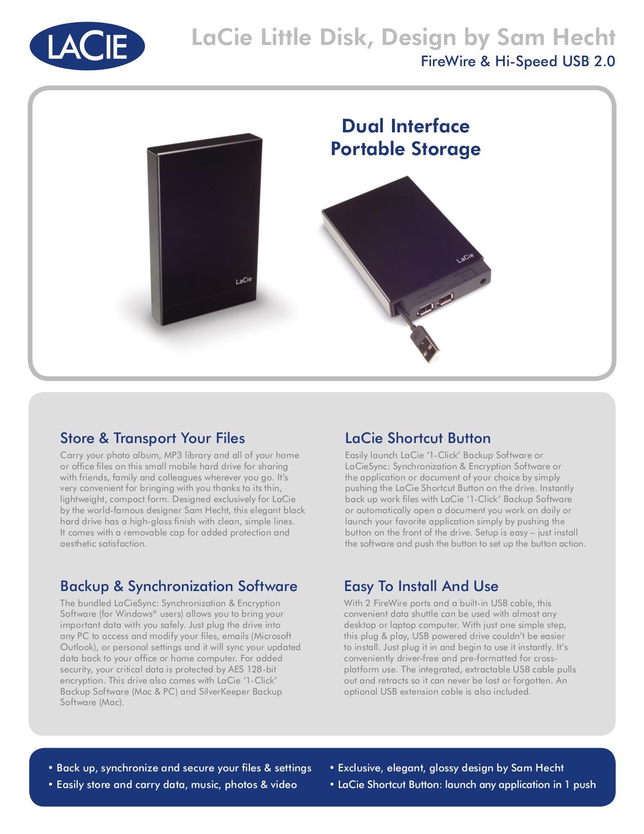 pdf for LaCie Storage 301280 manual