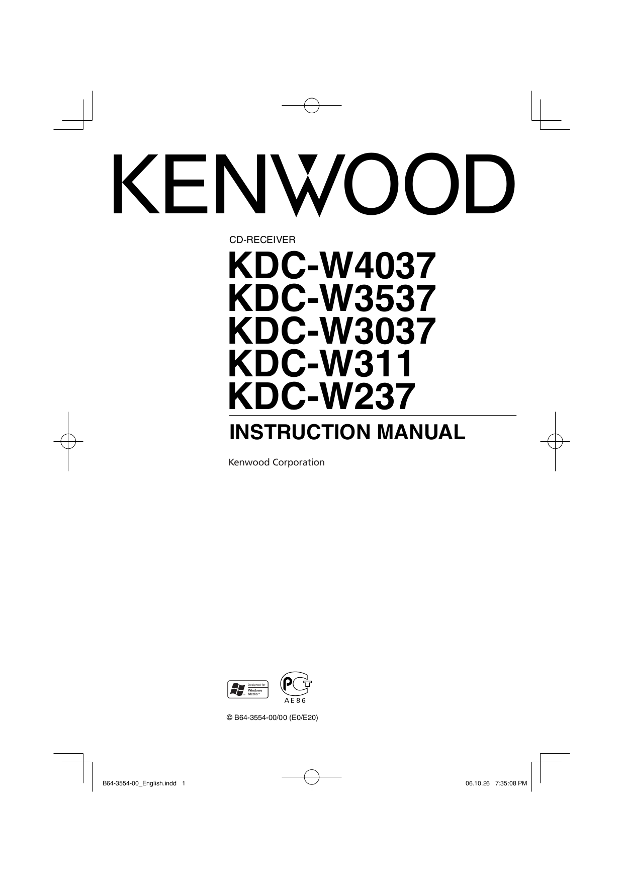 KDC W3037_W3537_W4037.pdf 0 download free pdf for kenwood kdc 148 car receiver manual kenwood kdc-mp225 wiring diagram at bayanpartner.co