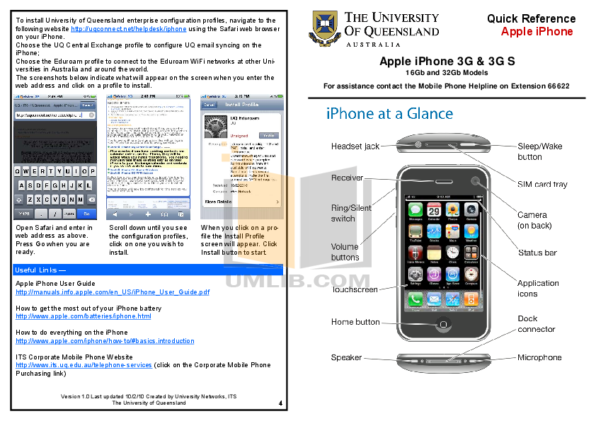 download free pdf for apple iphone 3g iphone 3g s 32gb cell phone manual rh umlib com iPhone 3G Overview iPhone 3G Overview