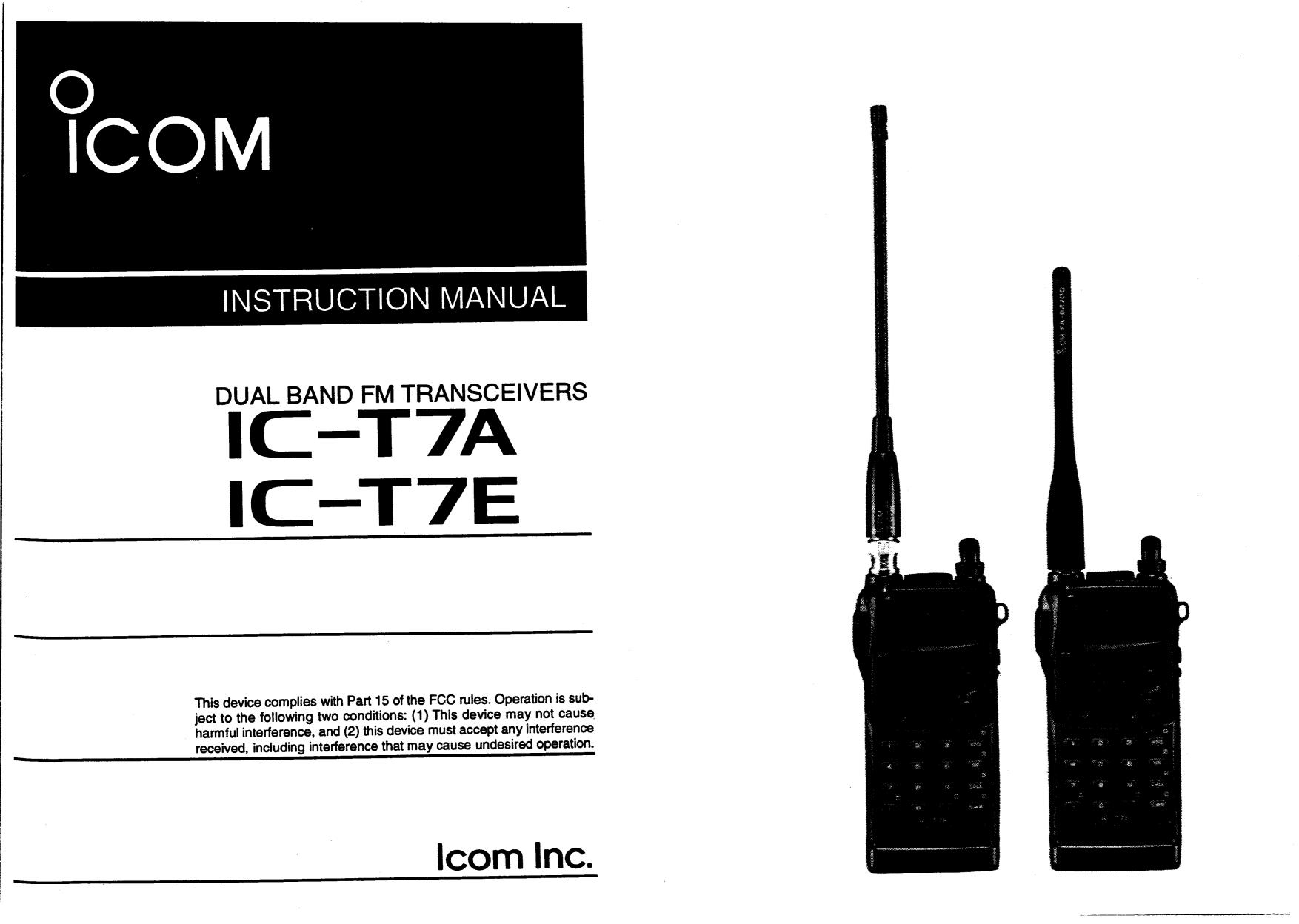 icom ic t7h manual browse manual guides u2022 rh trufflefries co Icom 735 Mods Icom 735 Mods
