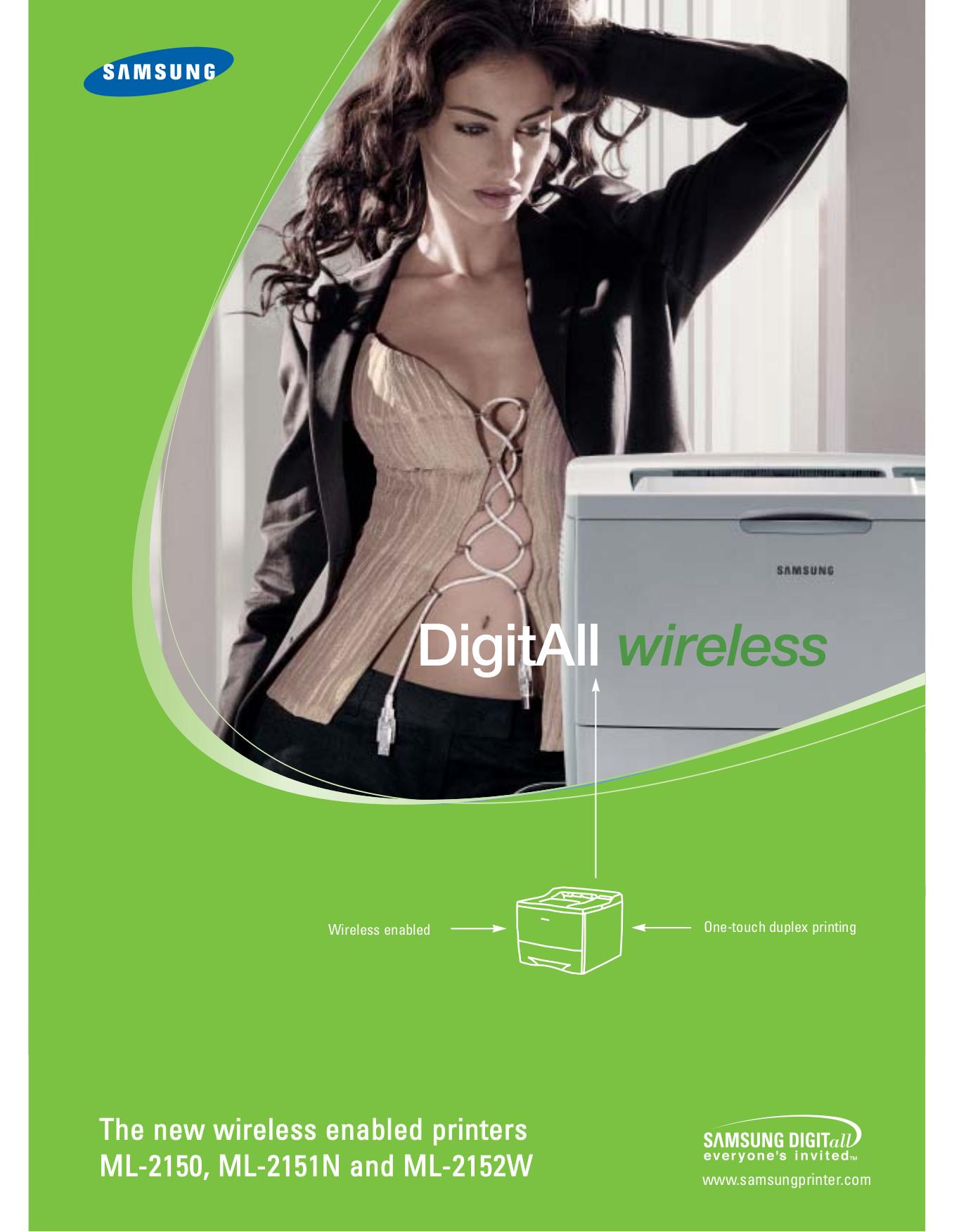 pdf for Samsung Printer ML-2150 manual