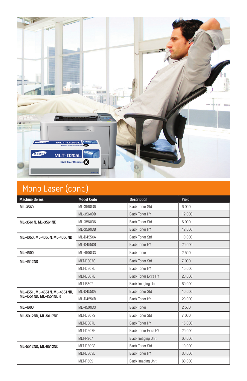 Samsung Printer ML-2150 pdf page preview
