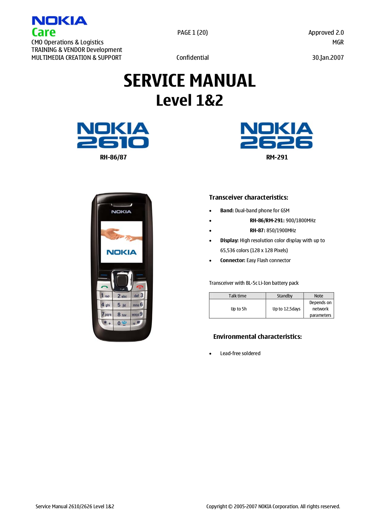 download free pdf for nokia 2610 cell phone manual