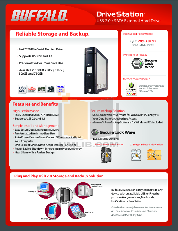 Buffalo Storage HD-HC160U2 pdf page preview