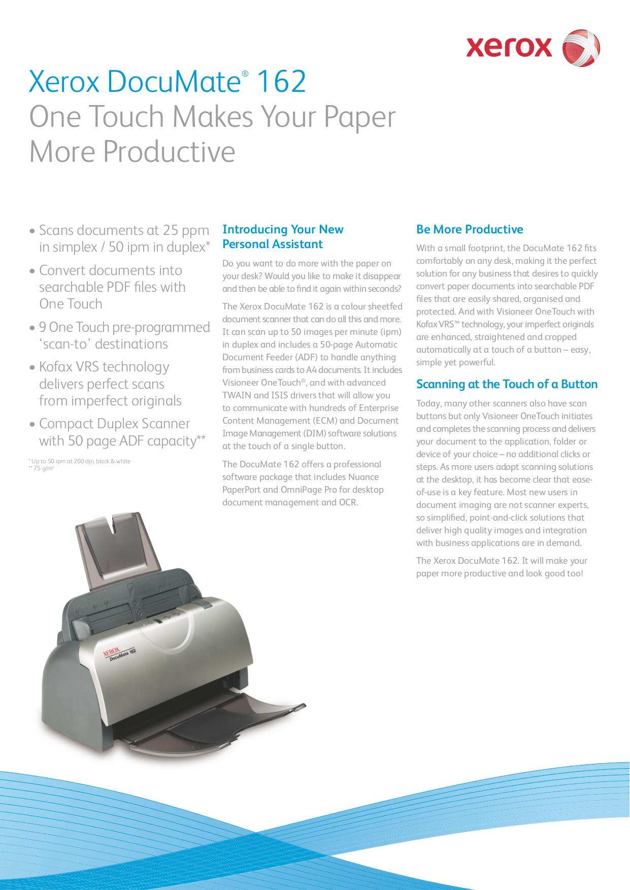 download free pdf for xerox documate 162 scanner manual rh umlib com Xerox DocuMate 4830 11X17 Paper xerox documate 162 user manual