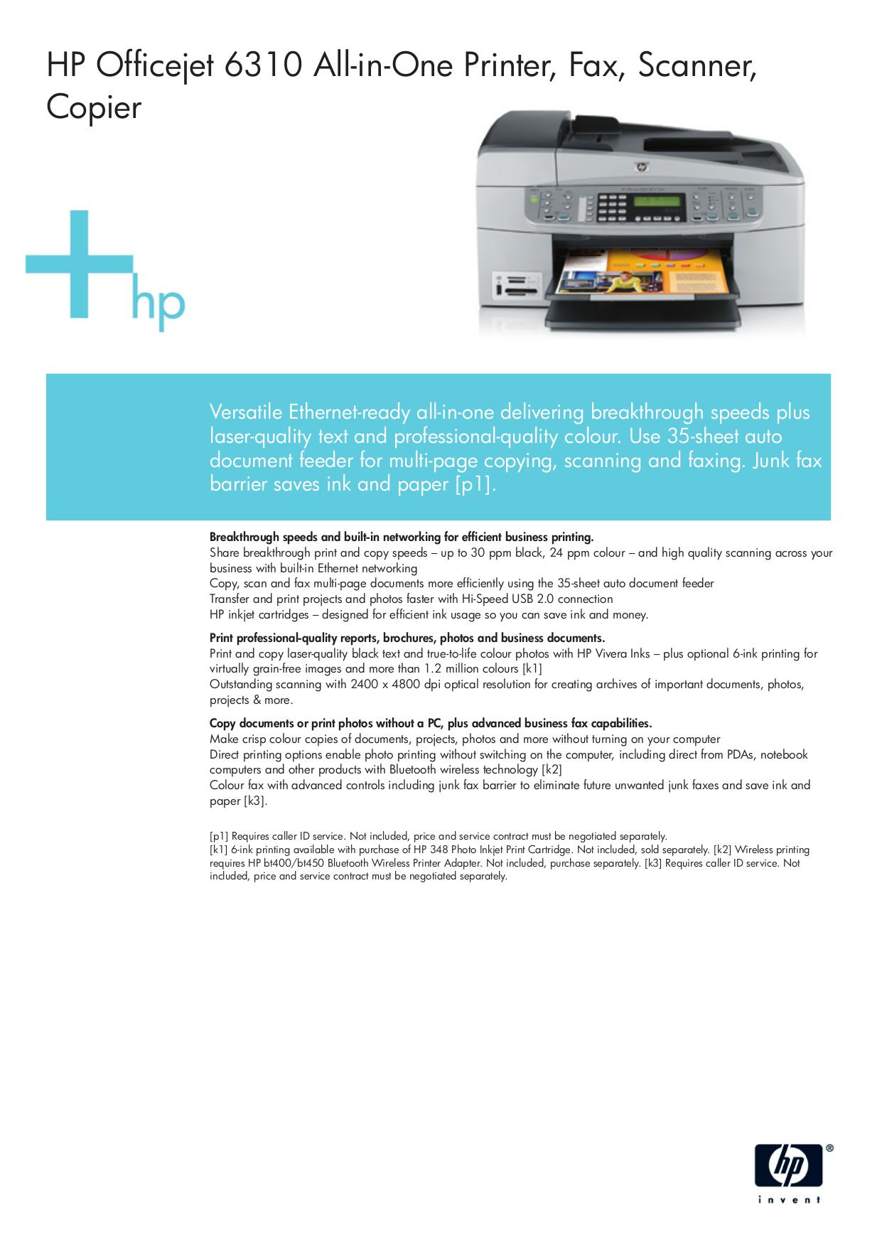 hp 6310xi manual product user guide instruction u2022 rh testdpc co HP Officejet 6310 All in One Manual HP 6310 Inkjet Cartridges