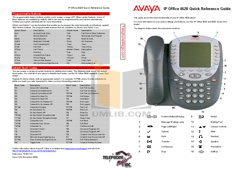 Avaya Telephone Guide Browse Manual Guides
