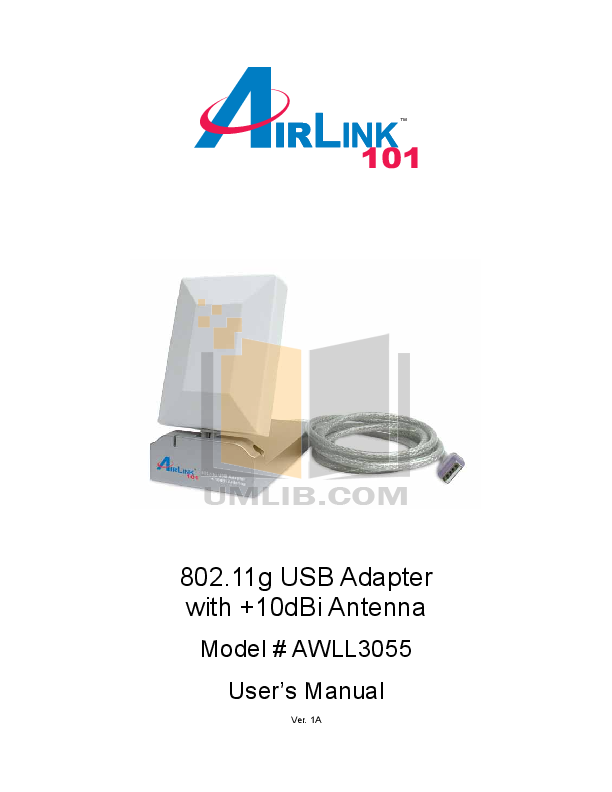 pdf for Airlink Other AWLL3055 Adapters manual