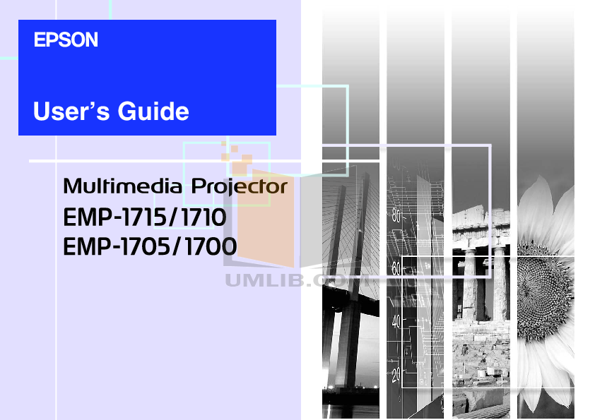 pdf for Epson Projector EMP-1700 manual
