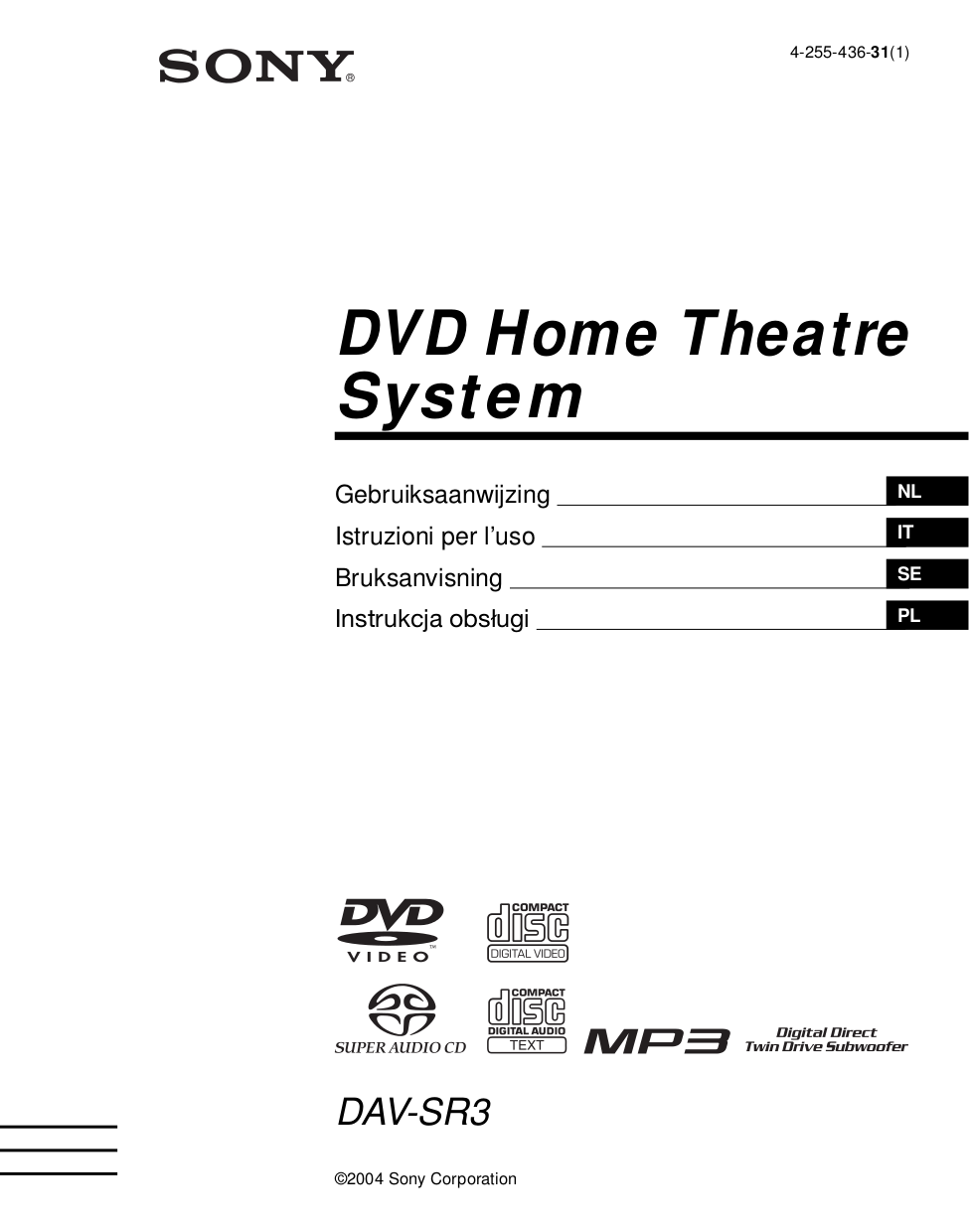 Free Sony Home Theater Manual