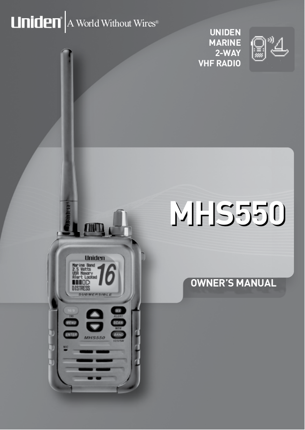 pdf for Uniden 2-way Radio MHS550 manual