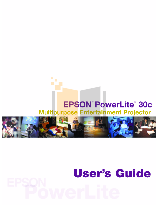 pdf for Epson Projector PowerLite 30c manual