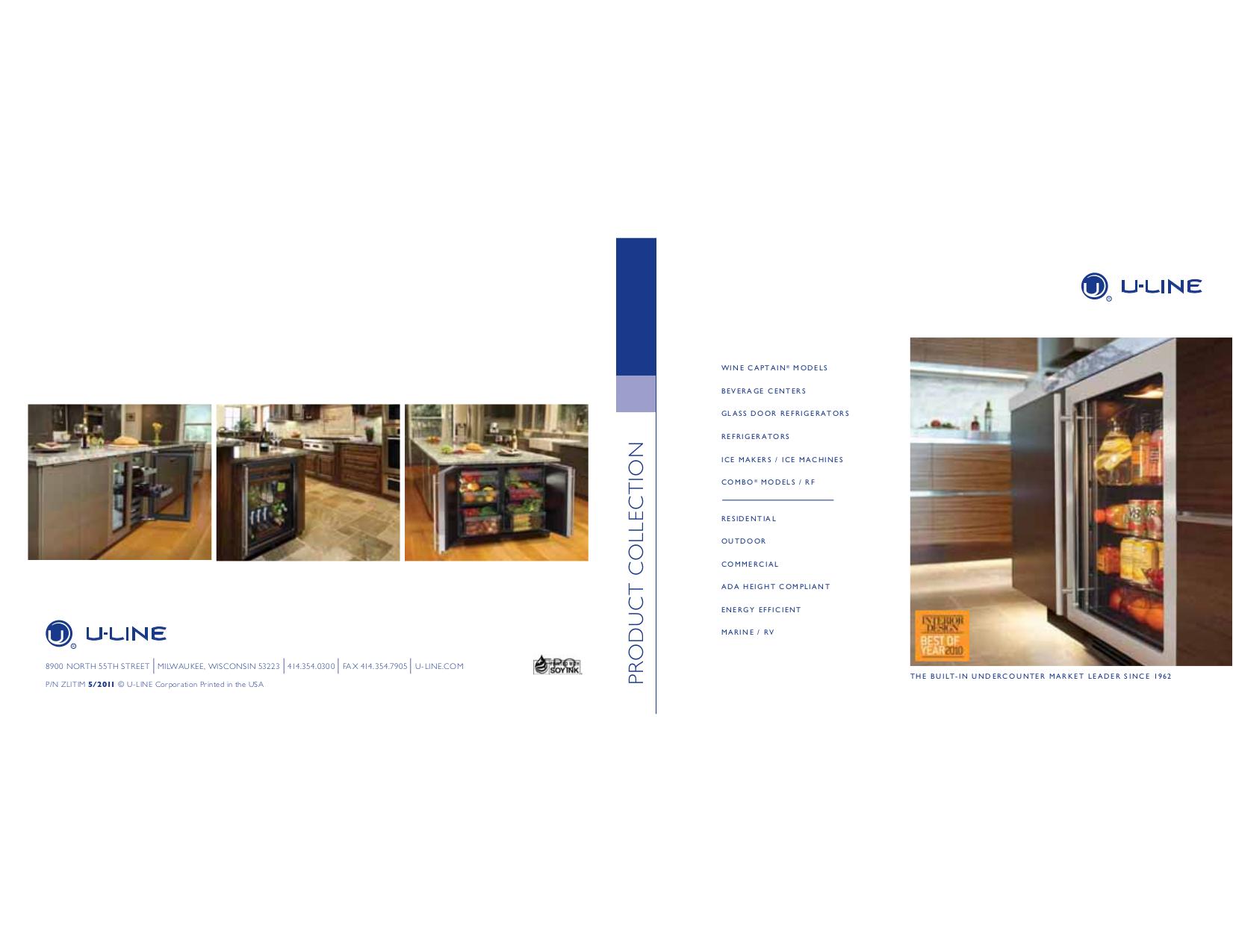 pdf for U-Line Refrigerator 2115RSOD manual