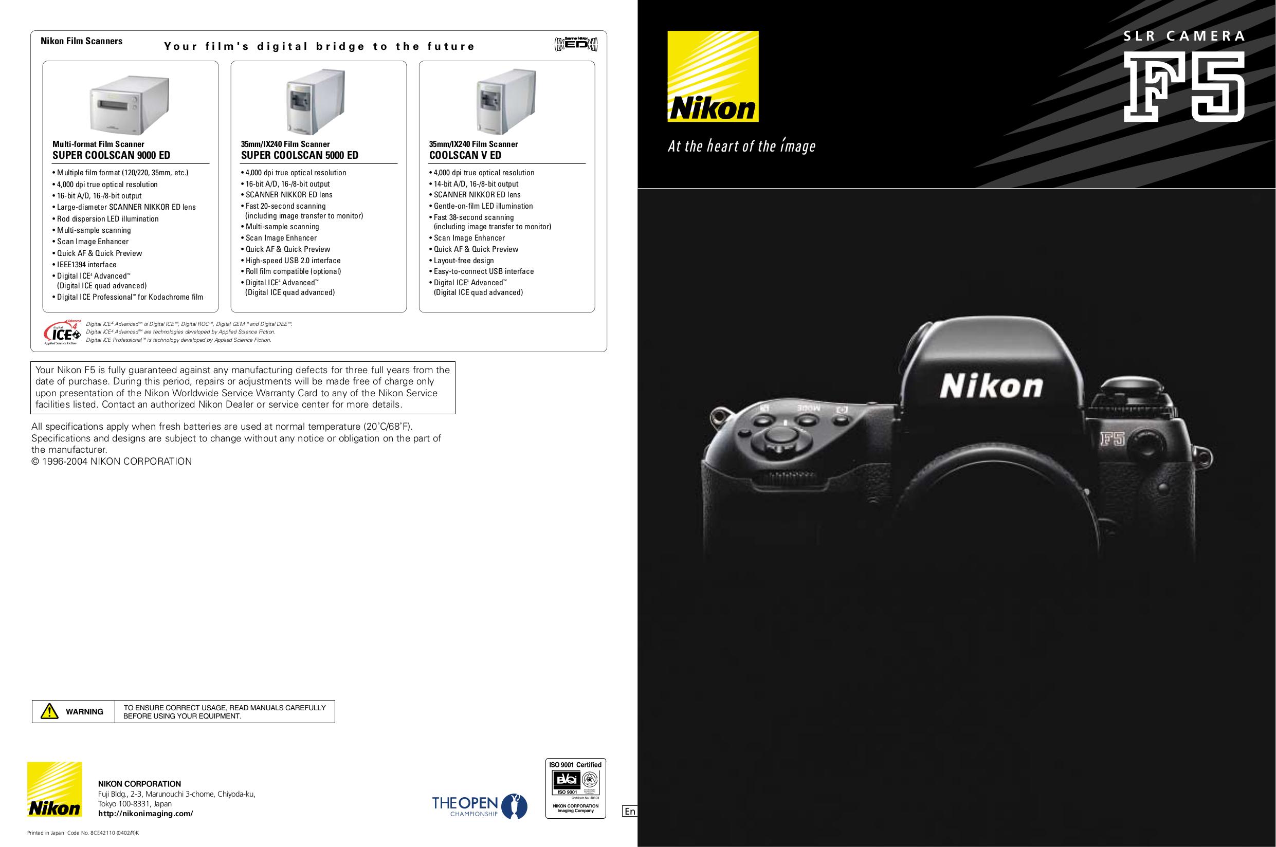 PDF manual for Nikon Scanner Coolscan V