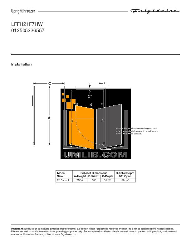 download free pdf for frigidaire lffh21f7hw freezer manual rh umlib com Frigidaire Upright Freezer Manual Frigidaire Owner's Manual
