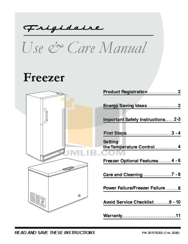 download free pdf for frigidaire lffh21f7hw freezer manual rh umlib com Frigidaire Gallery Refrigerator User Manual Frigidaire Owner's Manual