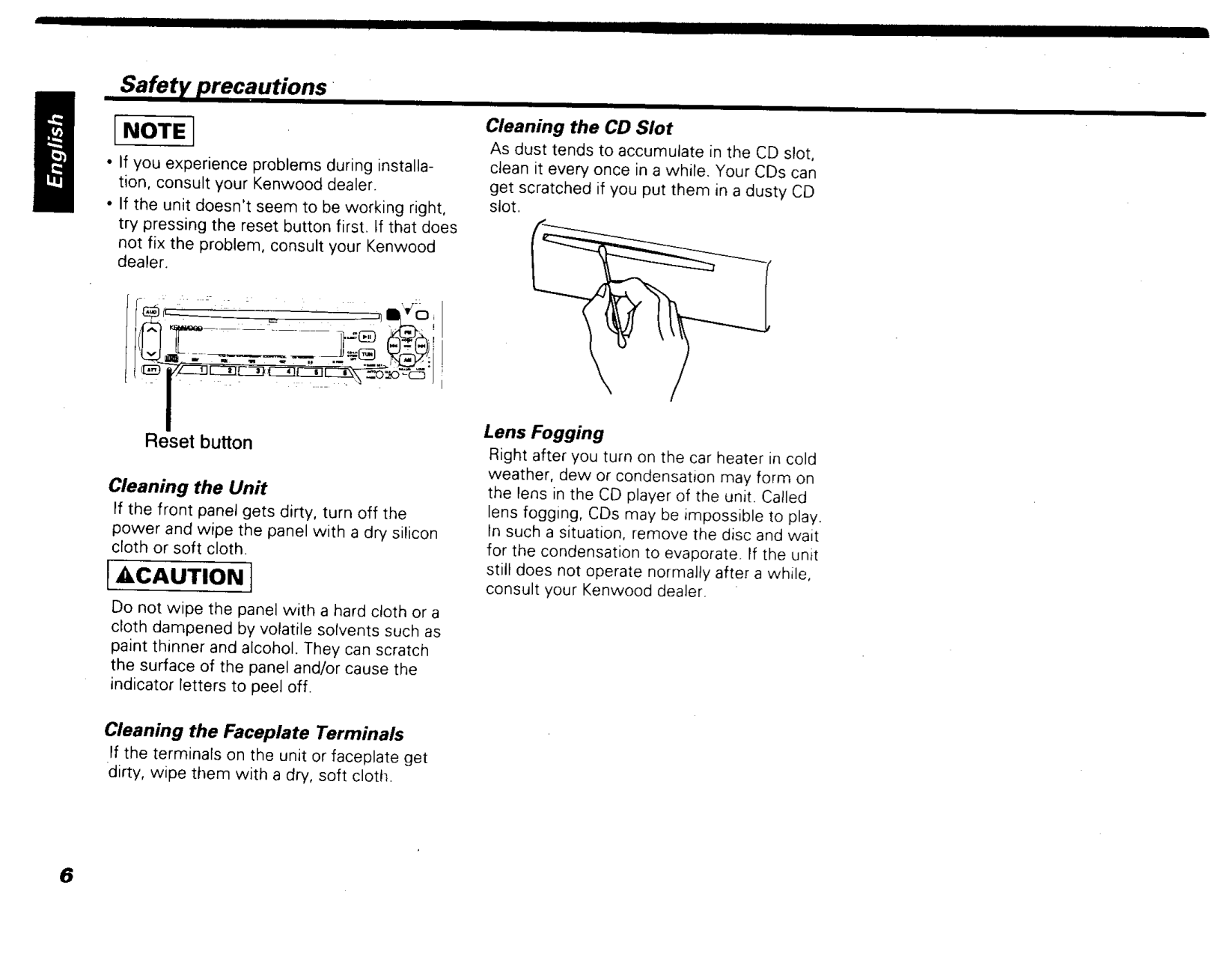 PDF manual for Kenwood Car Receiver KDC-4007