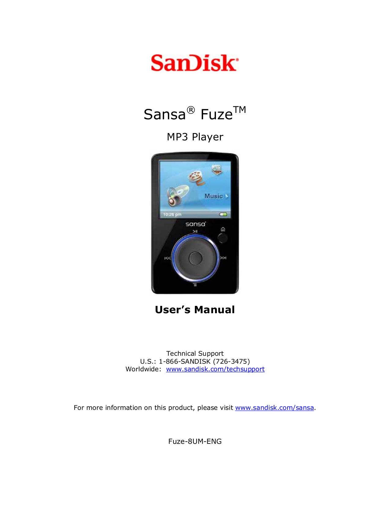 download free pdf for sandisk sansa sansa fuze 2gb mp3 player manual rh umlib com sandisk sansa c250 2gb mp3 player manual SanDisk MP3 Player Instructions