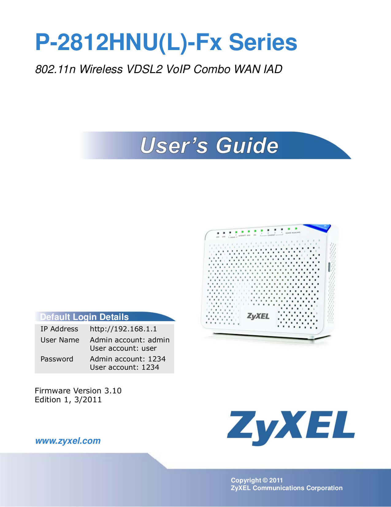 pdf for Zyxel Other MAX-130 Modems manual