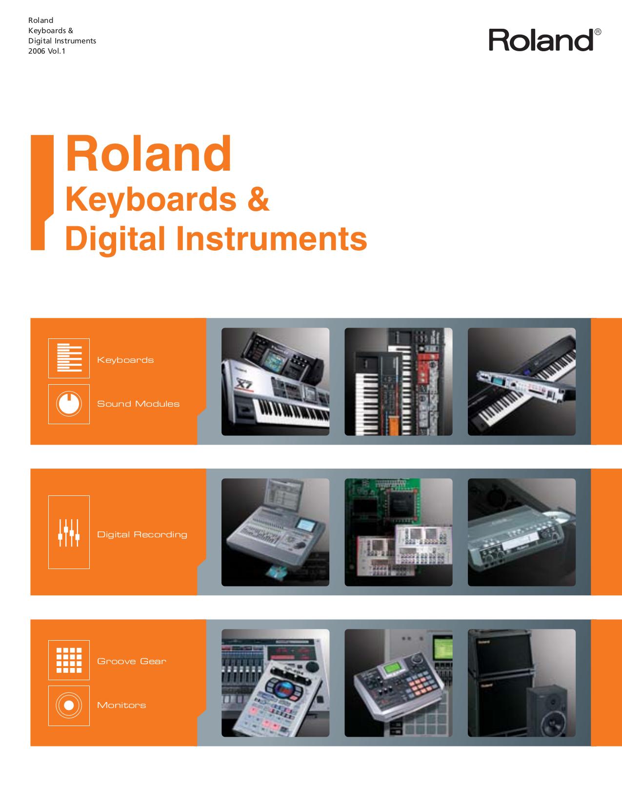Download free pdf for Roland GW-7 Music Keyboard manual