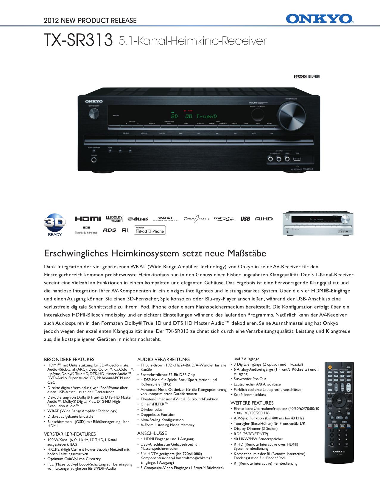 download free pdf for onkyo tx sr313 receiver manual rh umlib com onkyo tx-sr313 specifications Onkyo Tx- Sr373