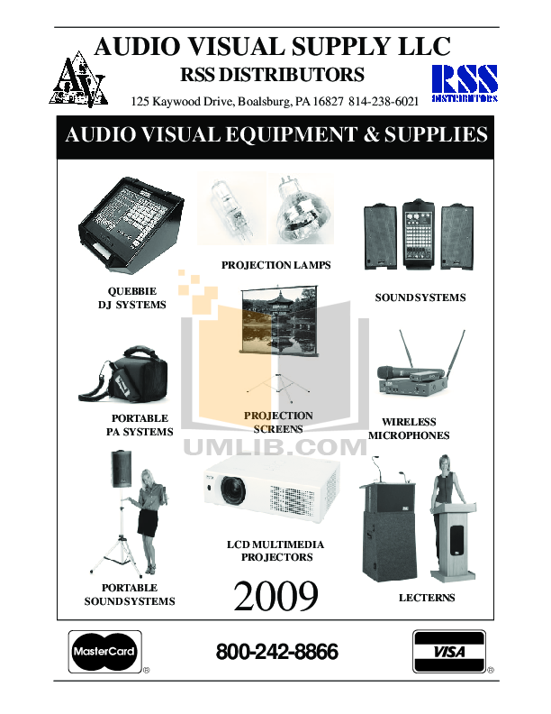 pdf for Anchor Speaker MEGA-6000U1 manual