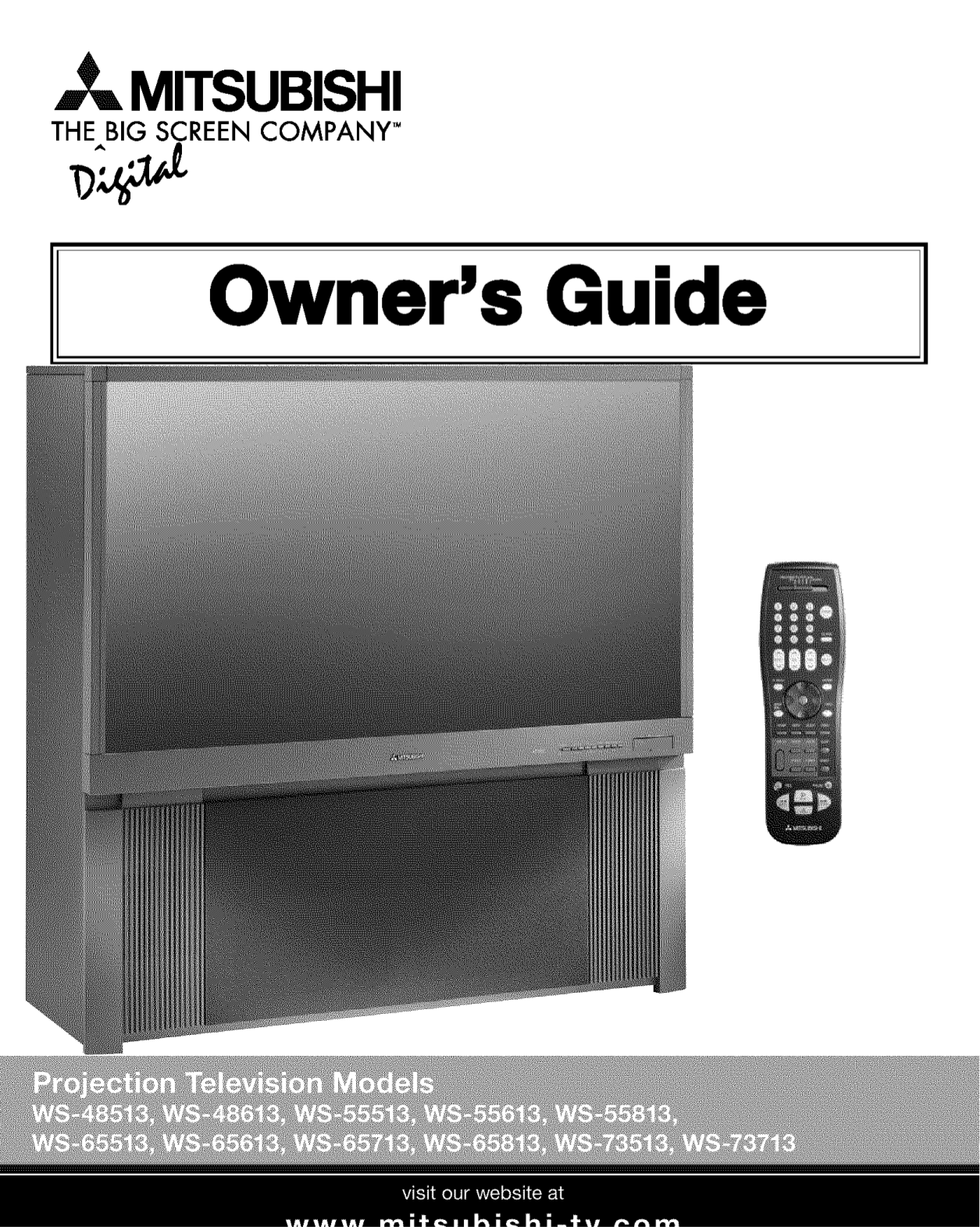 pdf for Mitsubishi TV WS-48513 manual