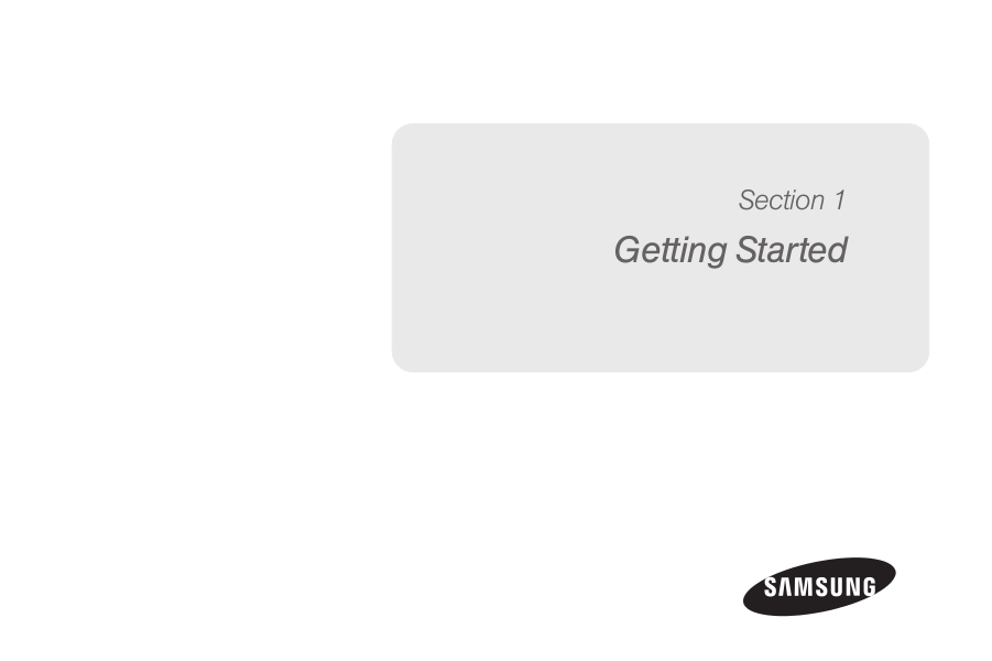 Samsung Cell Phone Focus pdf page preview