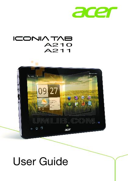 download free pdf for acer iconia tab a200 16gb tablet manual rh umlib com acer tablet user manual acer tablet manual download